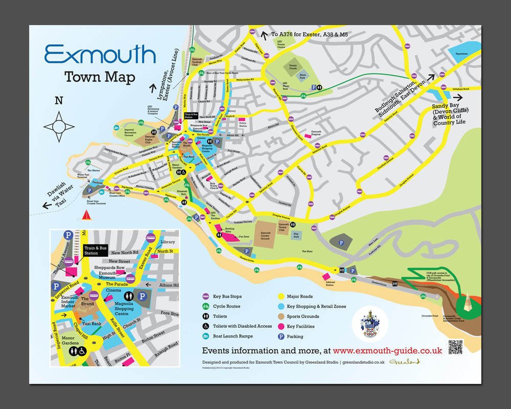 Map Of Exmouth exmouth town map | Greenland Studio Map Of Exmouth